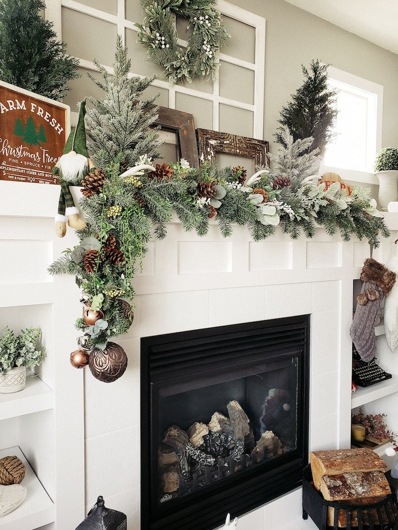 Christmas inspiration for the mantle