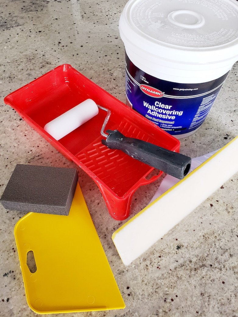 All tools needed to apply wallpaper