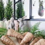 An easy Easter craft, burlap carrots