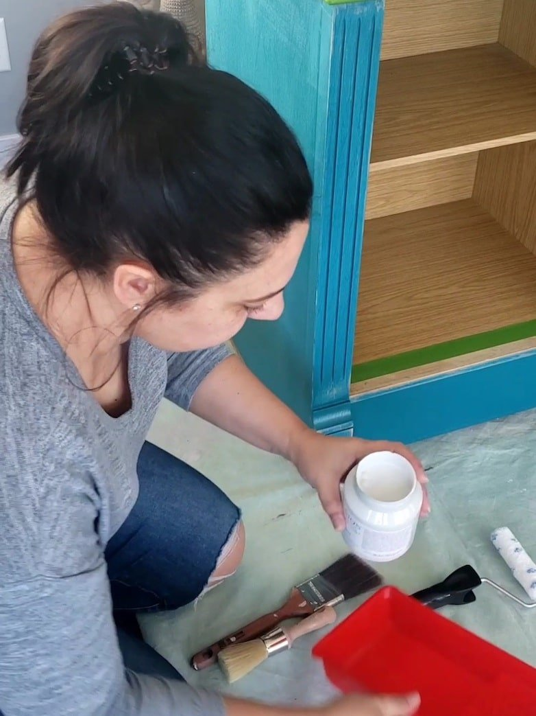 Hutch makeover with mineral paint