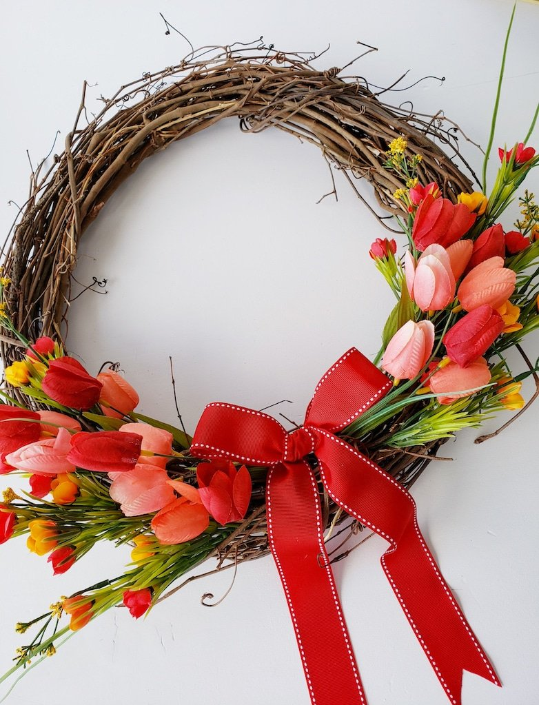 Wreath for spring and summer