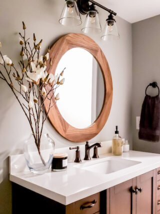 Our DIY basement bathroom – from nothing to pretty amazing!