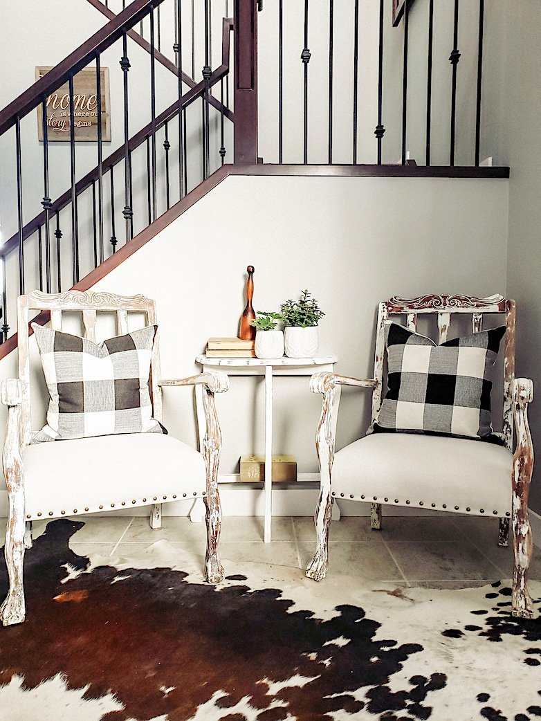 Chairs in the entryway