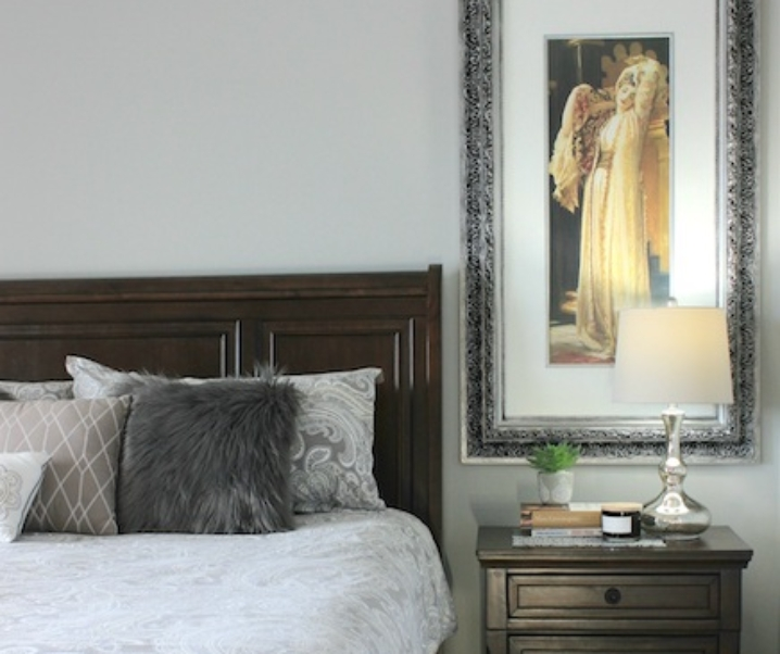 A master bedroom bending the rules on scale and proportion