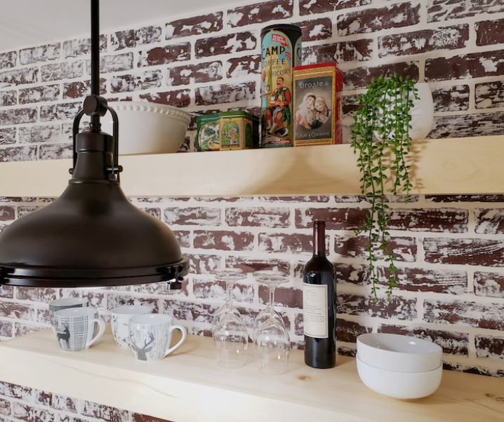 DIY floating shelves – no special hardware required