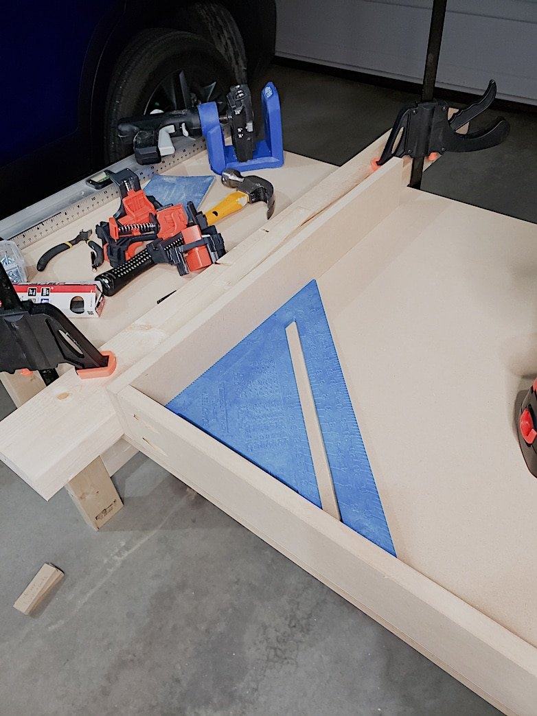 use a square when building drawers