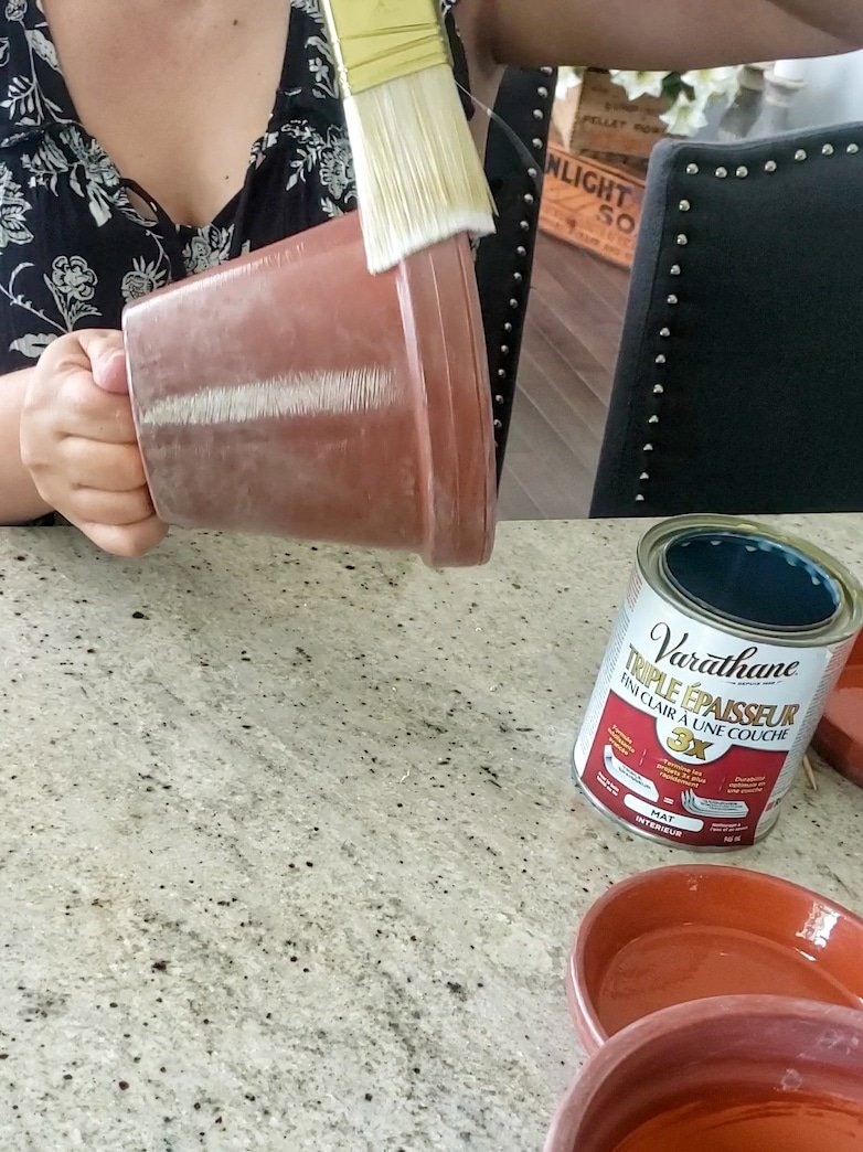 painting with a clear sealer