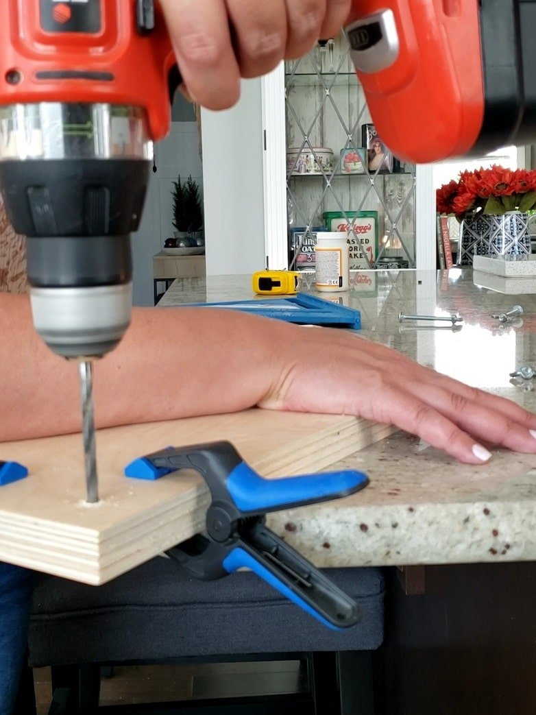 Drilling holes through plywood