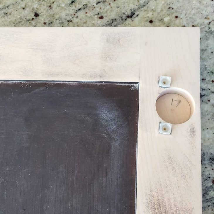 How to prep cabinets for painting: label doors as you take them down
