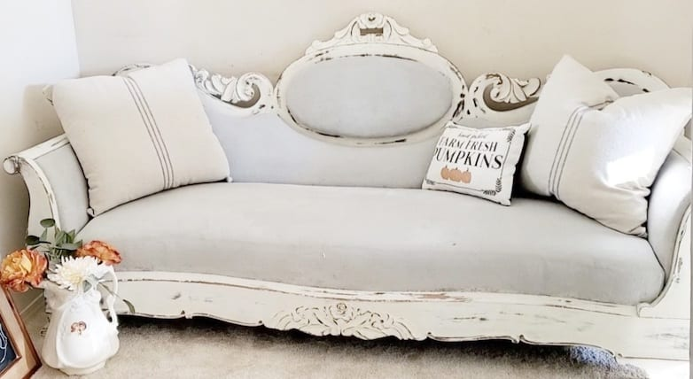 painted victorian sofa
